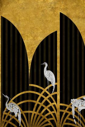 Art Deco Wallpaper Mural - Tassel Chai 7900152 - MURAL