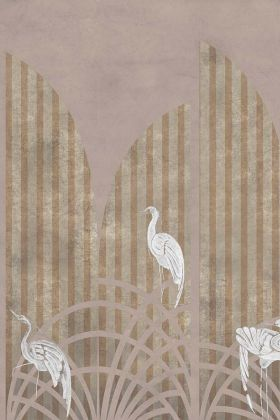 Art Deco Wallpaper Mural - Tassel Rose Pink 7900151 - MURAL