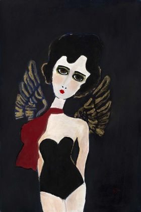 Image of the Unframed Angel Art Print by Rebecca Sophie Leigh