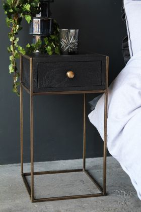 Lifestyle image of the Halcyon Bedside Table With Drawer