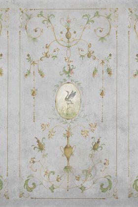 Chinoiserie Panel Wallpaper Mural - Mirto Chai Seed 7900092 - MURAL