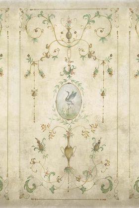 Chinoiserie Panel Wallpaper Mural - Mirto Clow 7900090 - MURAL
