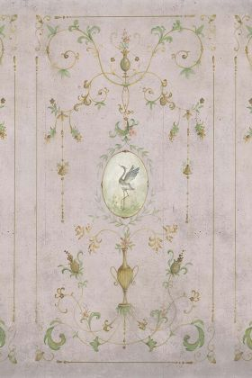 Chinoiserie Panel Wallpaper Mural - Mirto Rose Pink 7900091 - MURAL