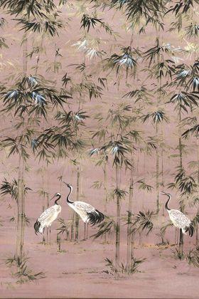 Chinoiserie Wallpaper Mural - Garzas Rose Pink 7900002 - MURAL