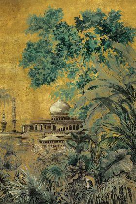 Chinoiserie Wallpaper Mural - Taj Mahal Chai 7900123 - MURAL