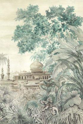 Chinoiserie Wallpaper Mural - Taj Mahal Maca 7900120 - MURAL
