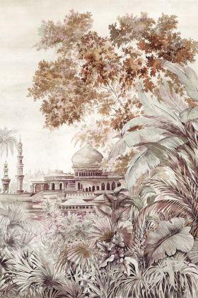 Chinoiserie Wallpaper Mural - Taj Mahal Rose Pink 7900122 - MURAL