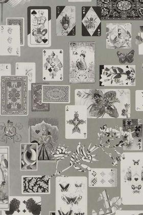 Christian Lacroix Incroyables et Merveilleuses Collection - Maison De Jeu Wallpaper - Argent PCL697/05 - ROLL