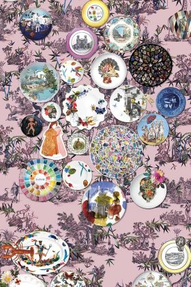 Christian Lacroix Au Thèâtre Ce Soir Collection - Folie Myrtille Wallpaper PCL1002/01 - ROLL