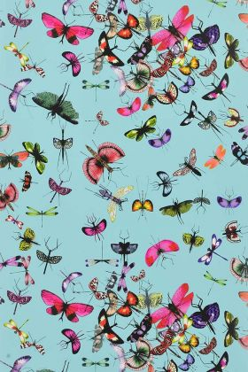 Christian Lacroix Nouveaux Mondes Collection - Mariposa Wallpaper - Celedon PCL666/04 - ROLL