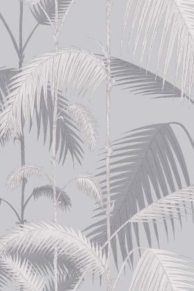 Cole & Son Contemporary Restyled - Palm Jungle Wallpaper - Lilac Grey & Grit 95/1007 - ROLL