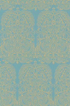 Cole & Son New Contemporary - Alpana Wallpaper - Blue & Gold 69/2107 - ROLL