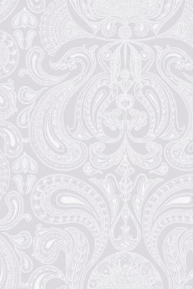 detail image of Cole & Son Contemporary Restyled - Malabar Wallpaper - White on Lilac 95/7041 - ROLL pink purple toned renaissance style repeated pattern
