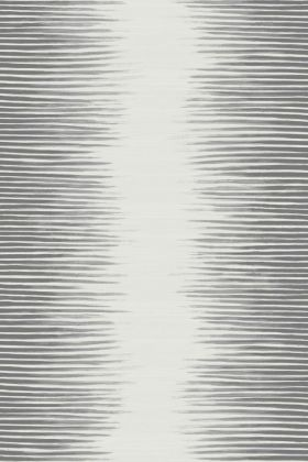 detail image of Cole & Son Curio Collection - Plume Wallpaper - Black & White 107/3014 - ROLL faded stripes repeated pattern