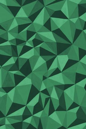 detail image of Cole & Son Curio Collection - Quartz Wallpaper - Emerald 107/8039 - ROLL green toned geometric repeated pattern