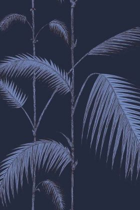 Cole & Son Icons Collection - Palm Leaves Wallpaper - Ink & Violet 112/2008 - ROLL