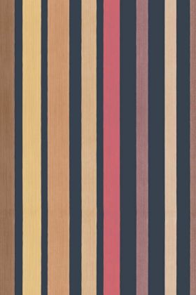 detail image of Cole & Son Marquee Stripes Collection - Carousel Stripe Wallpaper - Rouge Red 110/9044 - ROLL red purple orange and grey vertical stripes repeated pattern