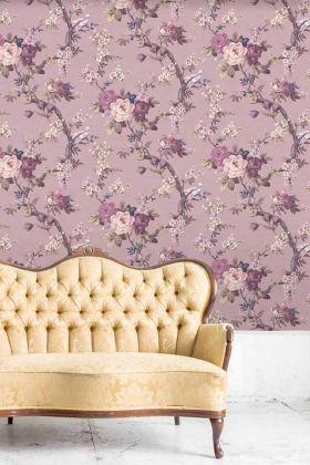 Dawn Chorus Wallpaper by Pearl Lowe - Smokey Heather WM-202 - ROLL