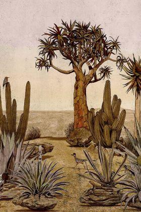 Desert Landscape Wallpaper Mural - Meiji Rose Pink 7900141 - MURAL