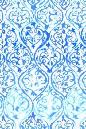 Designer Guild Majolica Collection - Arabesque Wallpaper - Cobalt PDG1029/01 - ROLL