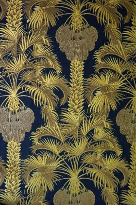 Cole & Son Martyn Lawrence Bullard Collection - Hollywood Palm Wallpaper - Charcoal & Gold 113/1001 - ROLL