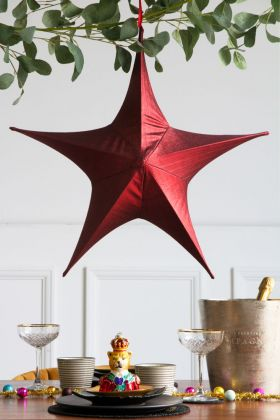 Large Red Metallic Star