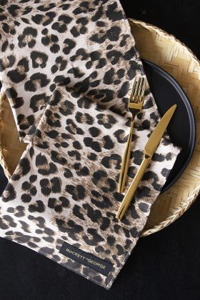 Lifestyle image of the Leopard Love Leopard Print Tea Towel