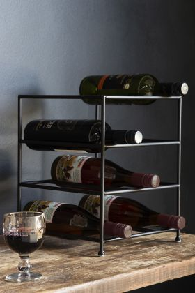 Lifestyle image of the Minimal Metal Wine Rack