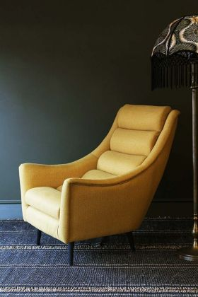 Jive Herringbone Tweed Armchair - Mustard - Chair