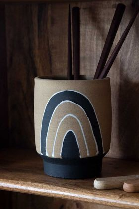 Image of the Natural & Black Really Lovely Yet Also Useful Pot/Planter