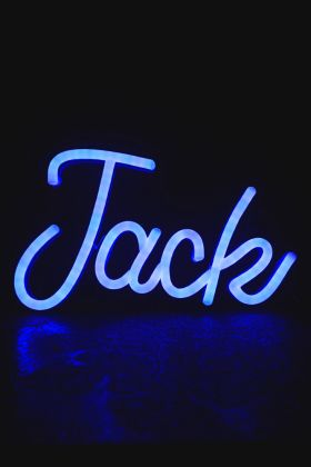 Jack LED Neon Light in Blue switched on