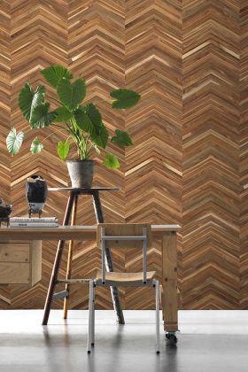 NLXL TIM-06 Timber Strips Wallpaper by Piet Hein Eek - ROLL