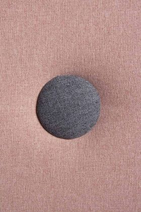 Image of the Blush Pink & Grey on the Modern Round Back Dining Chair In Blush Pink