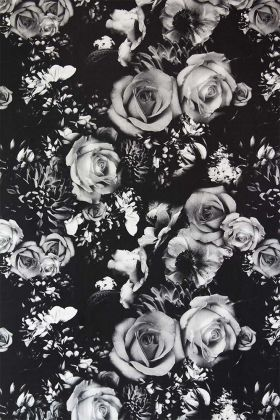Rockett St George Flower Power Wallpaper - Monochrome - ROLL