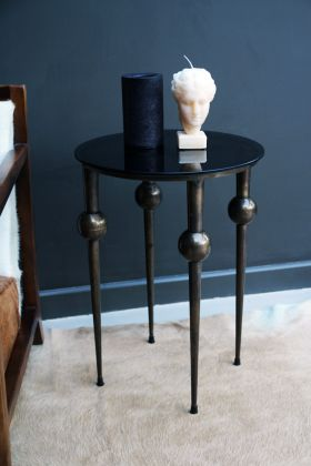 Sphere Leg Side Table