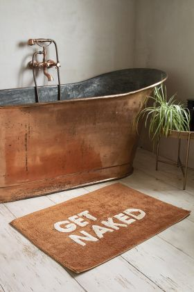 Lifestyle image of the Terracotta Get Naked Bath Mat