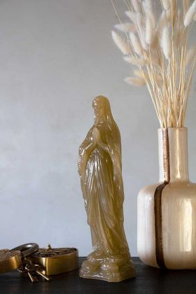 Lifestyle image of the Virgin Mary Wax Display Ornament