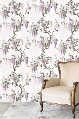 Wisteria Wallpaper by Pearl Lowe - Lilac WM-217 - ROLL