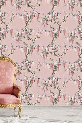 Wisteria Wallpaper by Pearl Lowe - Pink Bloom WM-218 - ROLL
