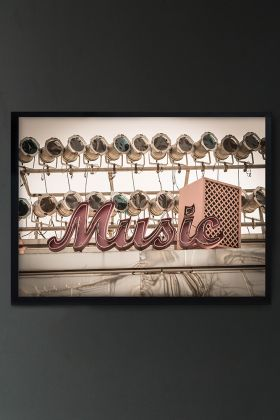 Image of the Framed Music Art Print