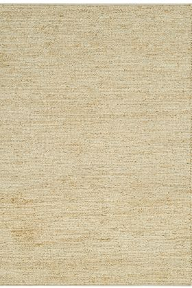 cutout image of Soumak Jute Rug - Straw on white background