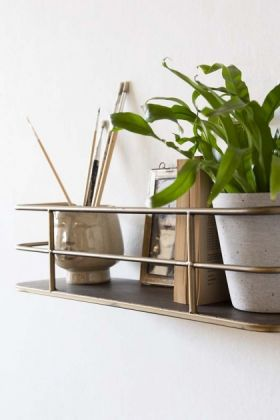 Small Brass Wall Shelf