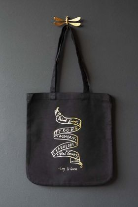 Strong Woman Charity Tote Bag - Black & Gold