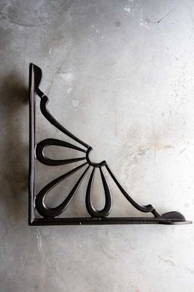Image of the Antique Brass Wall Bracket - Deco Flower