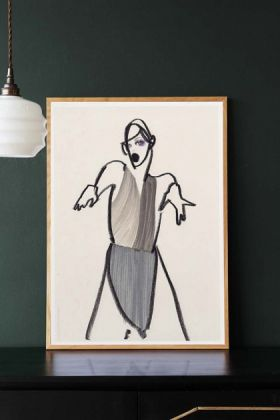 Unframed Dancer 03 Art Print by Amelie Hegardt