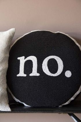 Yes Or No Glamorous Beaded Double Sided Cushion