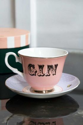 Lifestyle image of the Gin Teacup & Saucer