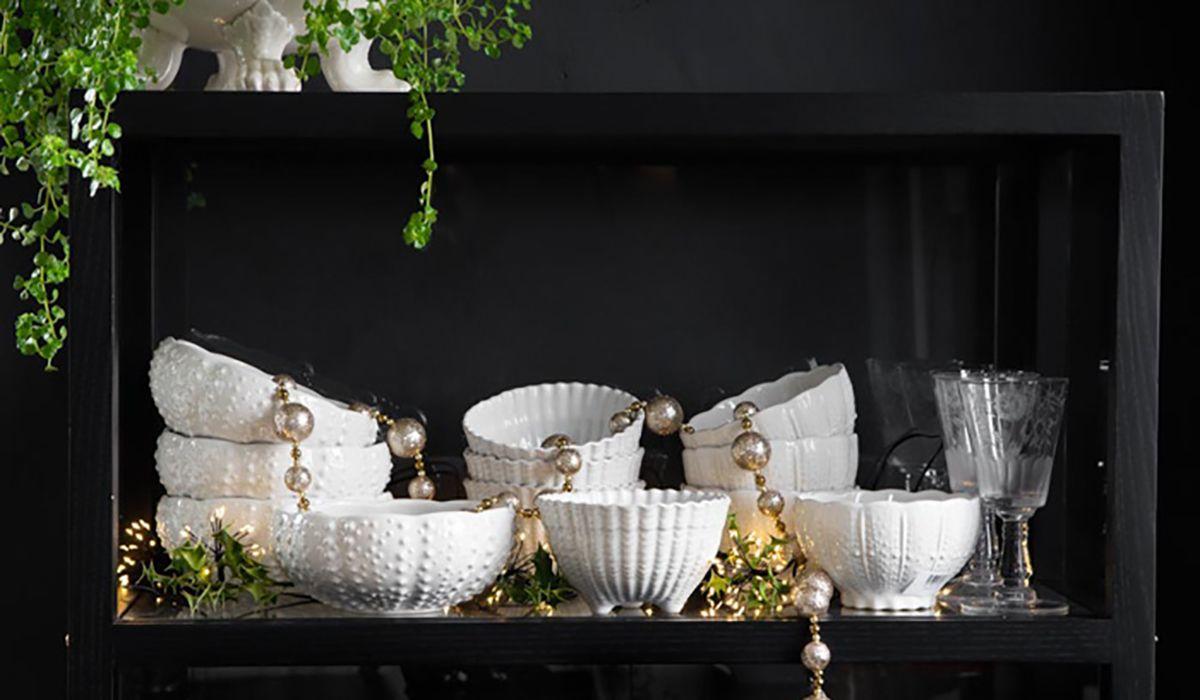 Antique White Ceramic Small Serving Bowl Rockett St George