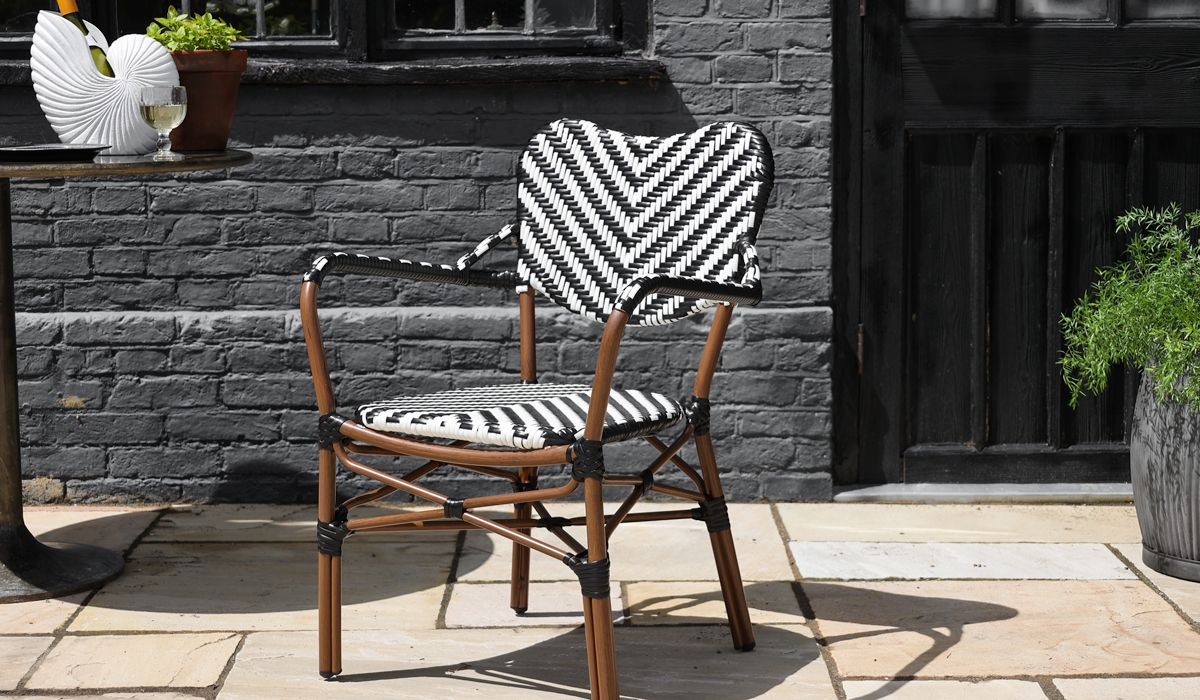 Parisian Bistro Style Outdoor Dining Chair