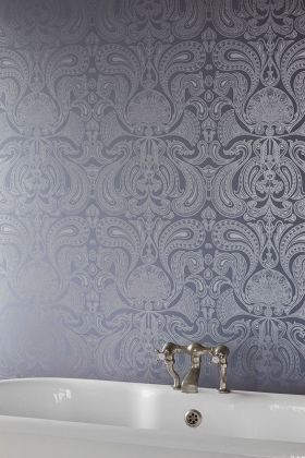 lifestyle image of cole & son contemporary restyled - malabar wallpaper - 3 dark colours available